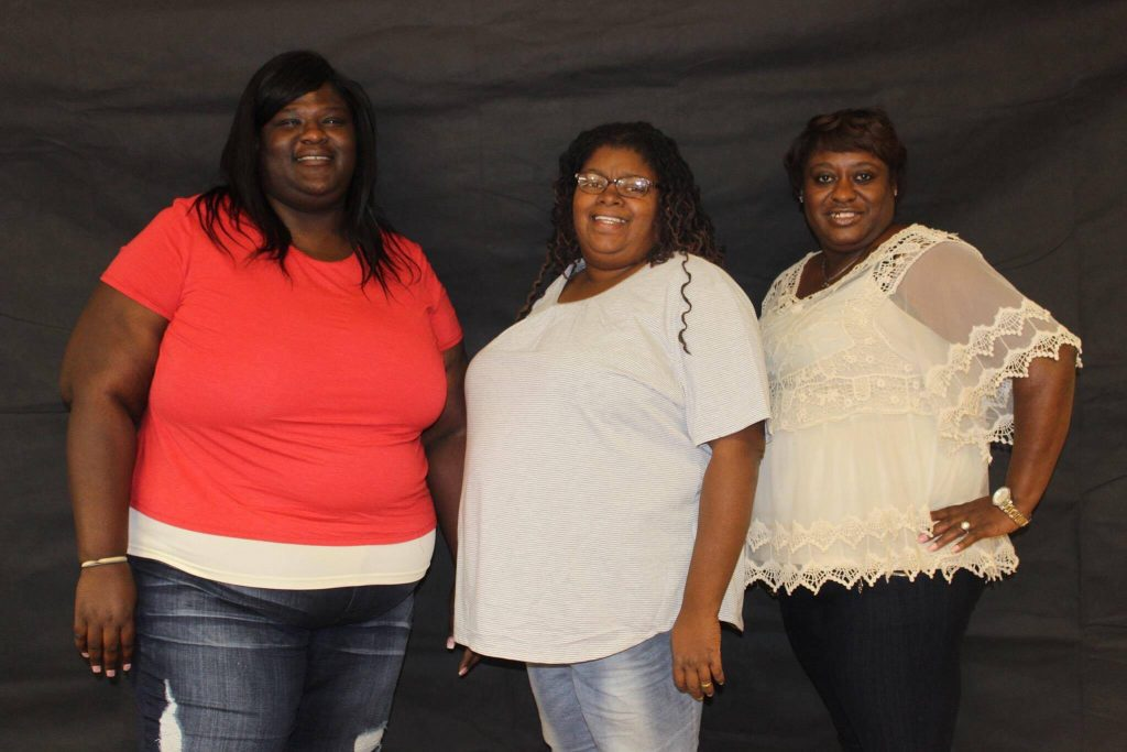(L to R) Natasha Enos, Toni Hill and Teffanie Green of the Northeast Mississippi Birthing Project.